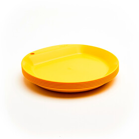 Wildo Camper Plate Flat Set Unicolor 6x, lemon